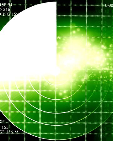 radar: Green radar screen with some soft highlights Stock Photo