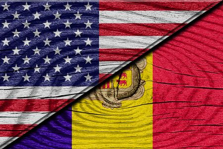 andorra: Andorra flag with some soft highlights and folds