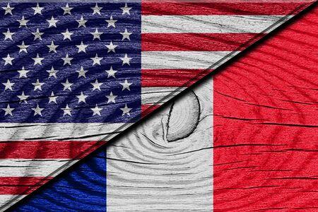 banderas america: Indicador de Francia con algunos puntos culminantes suaves y pliegues Foto de archivo