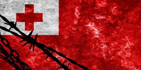 illegal alien: Tonga flag with some soft highlights and folds