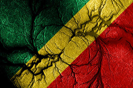 congo: Congo flag with some soft highlights and folds Stock Photo