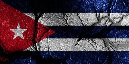 bandera cuba: bandera de Cuba con algunos puntos culminantes suaves y pliegues Foto de archivo