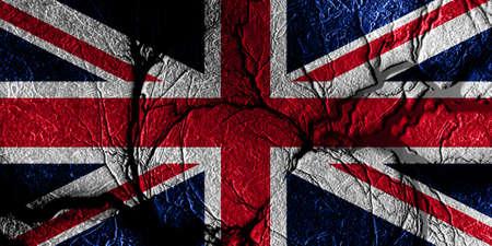bandera de gran breta�a: Gran bandera de Gran Breta�a con algunos puntos culminantes suaves y pliegues