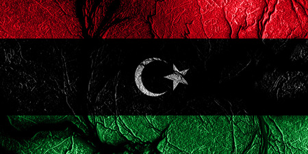 libya: Libya flag with some soft highlights and folds
