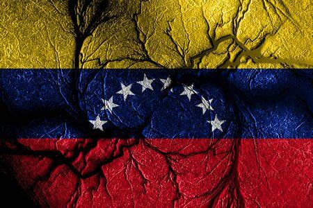 bandera de venezuela: Venezuela flag with some soft highlights and folds