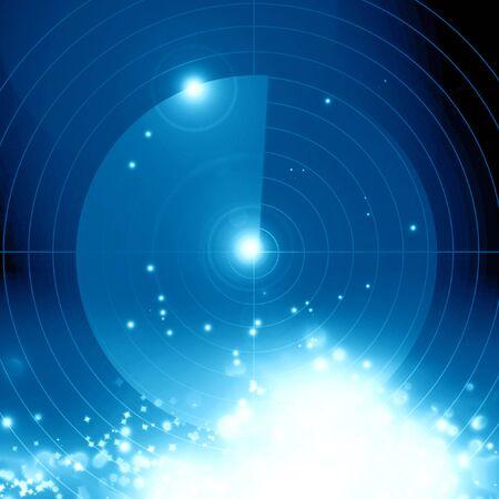 radar: Blue radar screen with some soft highlights