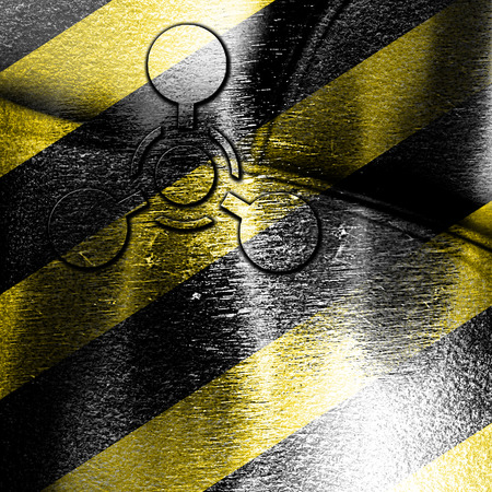 chemical weapon: Chemical weapon sign on a grunge background with some scratches