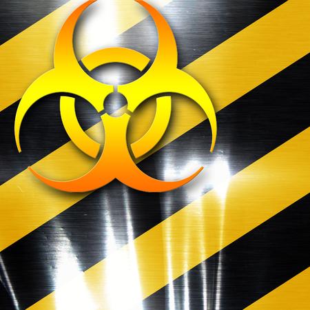 armageddon: Bio hazard sign on a grunge background with some soft scractches