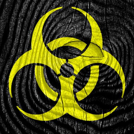 bio hazard: Bio hazard sign on a grunge background Stock Photo