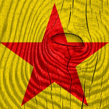 vivid colors: Communist sign with red and yellow vivid colors