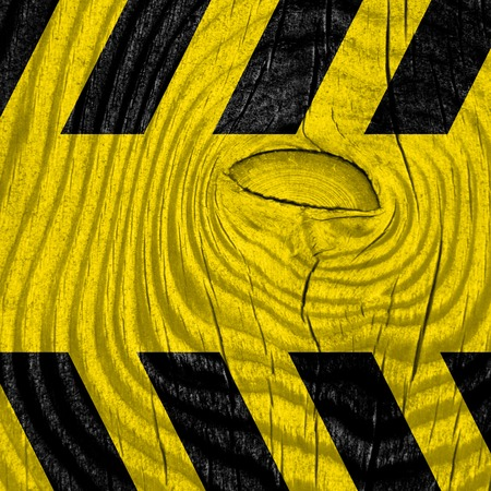 hazard stripes: Black and yellow hazard stripes with some soft highlights Stock Photo