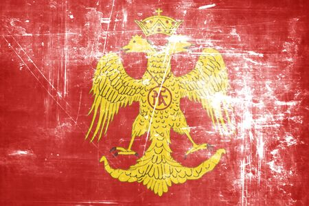 dynasty: Byzatine eagle flag with some soft highlights and folds Stock Photo