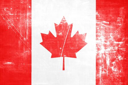 Canada flag with some soft highlights and folds