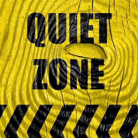 Quiet zone sign with some vivid colors Stock Photo