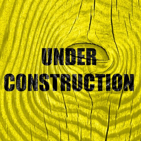 vivid colors: Under construction sign with some vivid colors