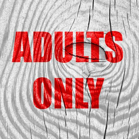 explicit: adults only sign with some vivid colors