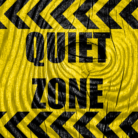 counsel: Quiet zone sign with some vivid colors Stock Photo