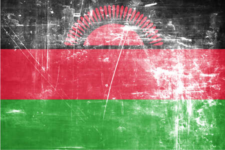 malawi flag: Malawi flag with some soft highlights and folds