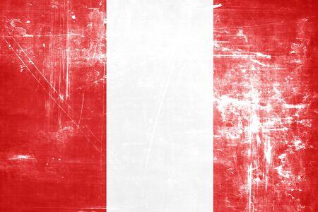 bandera peru: bandera de Per� con algunos puntos culminantes suaves y pliegues