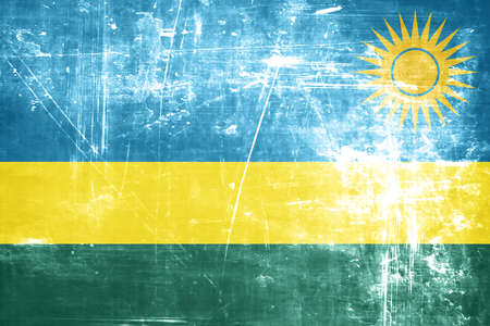 rwanda: Rwanda flag with some soft highlights and folds