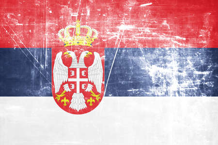 serbia flag: Serbia flag with some soft highlights and folds