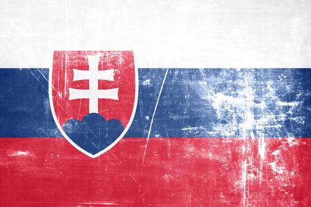 slovakia flag: Slovakia flag with some soft highlights and folds
