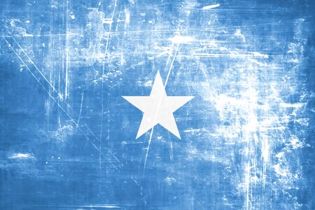 somalian culture: Somalia flag with some soft highlights and folds