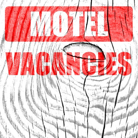 vacancy: Vacancy sign for motel with some soft glowing highlights