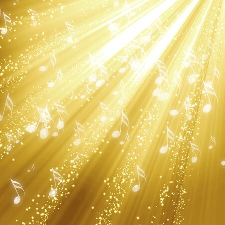 Golden festive background with soft highlights and  shades