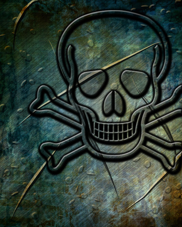 poison sign: Poison sign background with some soft scratches and dents
