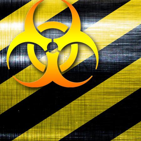 bio hazard: Bio hazard sign on a grunge background with some soft scractches