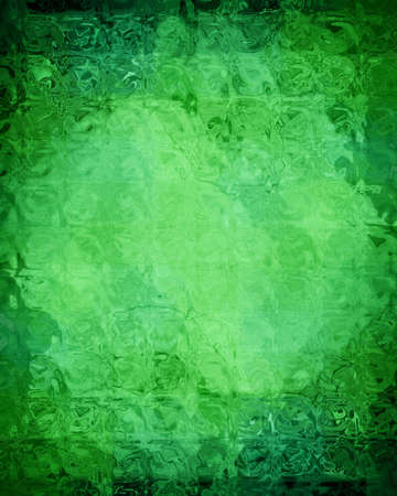green grunge background: green grunge background with some floral elements in it Stock Photo