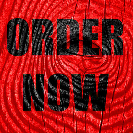 order now: Order now sign with some soft smooth lines