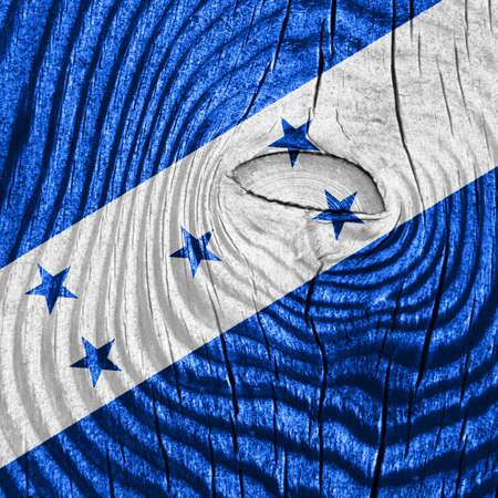 bandera de honduras: Honduras flag with some soft highlights and folds