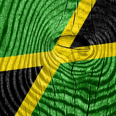 independence: Jamaica flag with some soft highlights and folds Stock Photo