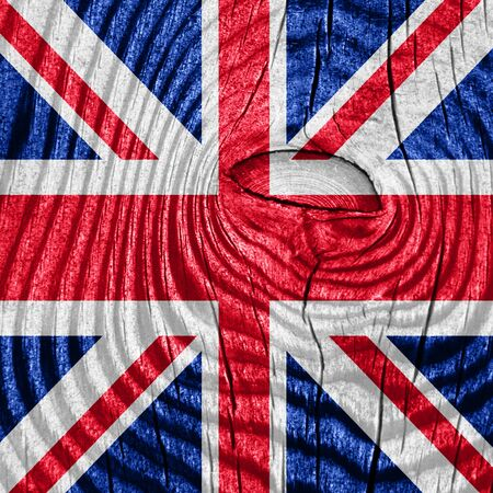 bandera de gran bretaña: Great britain flag with some soft highlights and folds