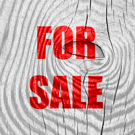 for sale: For sale sign with some smooth lines
