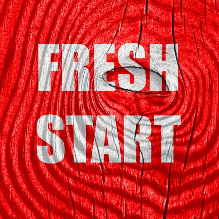 recharging: Fresh start sign with some smooth lines and highlights Stock Photo