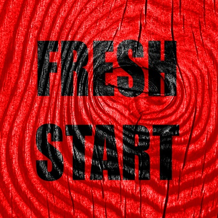 reformation: Fresh start sign with some smooth lines and highlights Stock Photo