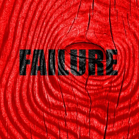 weakness: Failure sign with some smooth lines and highlights