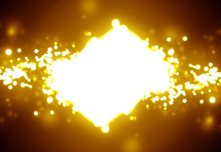 intense: Golden sparkling background with intense glowing sparkles and glitter