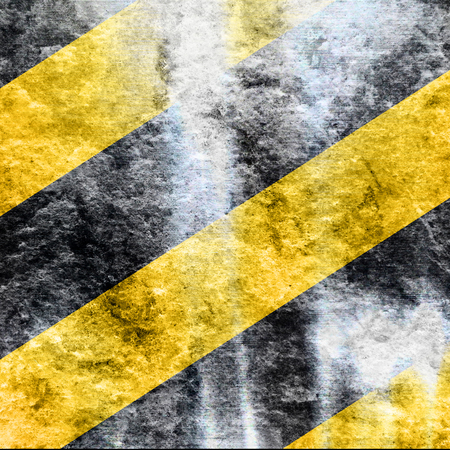 hazard stripes: Black and yellow hazard lines with clean lines Stock Photo