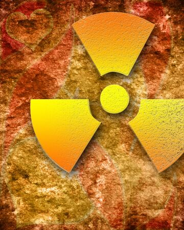 nuclear sign: Nuclear danger sign on a grunge background