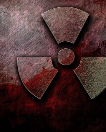 chemical warfare: Nuclear danger sign on a grunge background