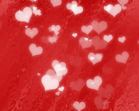 pareja enamorada: Fondo de San Valentín rojo con algunos puntos blandos y lo más destacado