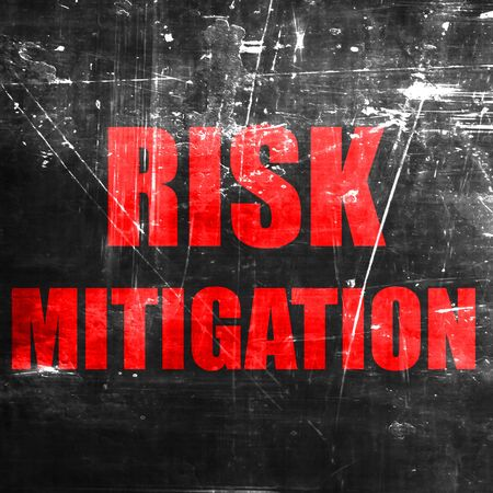 mitigation: Risk mitigation sign with some smooth lines and highlights
