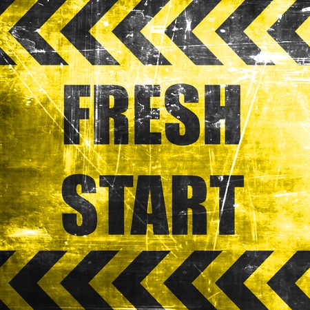 start fresh: Fresh start sign with some smooth lines and highlights Stock Photo