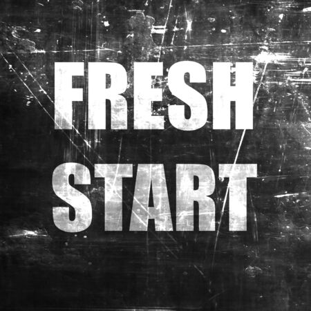 rejuvenation: Fresh start sign with some smooth lines and highlights Stock Photo