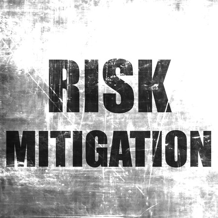 mitigating: Risk mitigation sign with some smooth lines and highlights