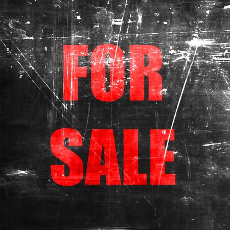 for sale sign: For sale sign with some smooth lines